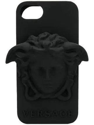 "VERSACE - Capa Medusa Leather iPhone 7/8 ""Black"""