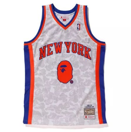 "Bape x Mitchell & Ness - Regata Swingman New York Knicks ""White"""
