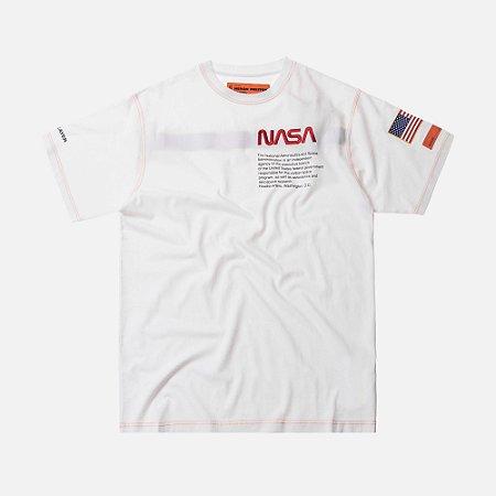 """Heron Preston x NASA - Camiseta American Flag """"White"""""""