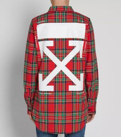 "OFF-WHITE - Camisa Check ""Red"""
