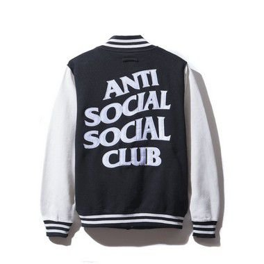 ANTI SOCIAL SOCIAL CLUB - Jaqueta Dropout Letterman White/Black""