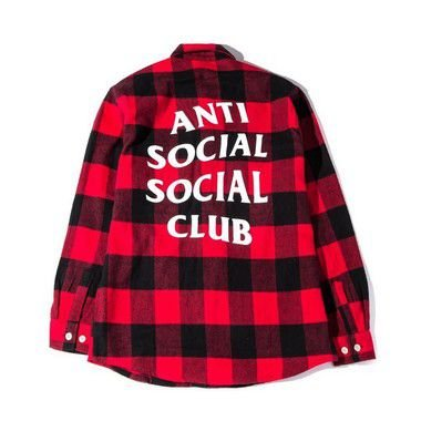 """ANTI SOCIAL SOCIAL CLUB - Camisa No Expectations Flannel """"Red"""""""