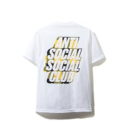 "ANTI SOCIAL SOCIAL CLUB - Camiseta Blocked Yellow Plaid ""White"""