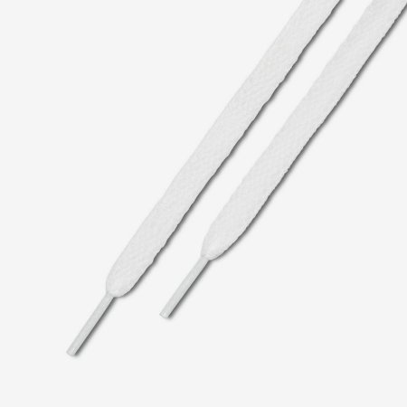 NIKE - Cadarço Flat  - Branco - 135 cm