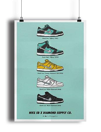 POSTER - Nike SB x Diamond Supply CO. (SEM MOLDURA)