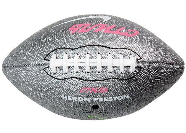 """ENCOMENDA - Nike x Heron Preston - Bola De Futebol Americano Vapor 24/7 """"Silver"""""""