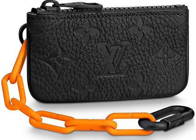 "LOUIS VUITTON - Bolsa Pochette Cles Monogram ""Orange/Black"""