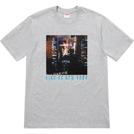 "SUPREME - Camiseta Christopher Walken King Of New York ""Grey"""