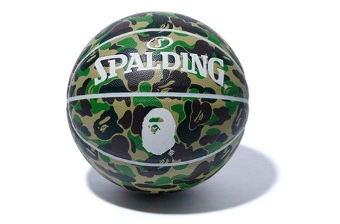 """Bape x Spalding - Bola Basquete Camo """"Green"""""""