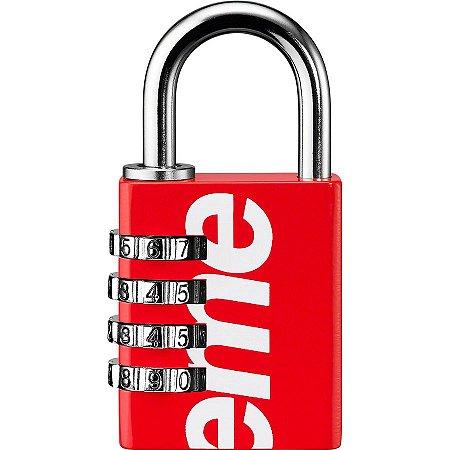 """Supreme x Master Lock - Cadeado Numeric Combination Lock """"Red"""""""
