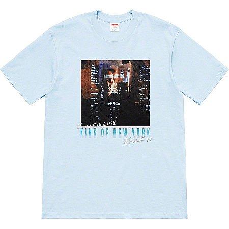 """SUPREME - Camiseta Christopher Walken King Of New York """"Light Blue"""""""