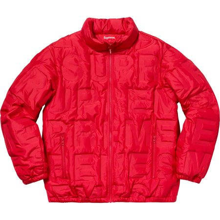 "SUPREME - Jaqueta Bonded Logo Puffy ""Red"""