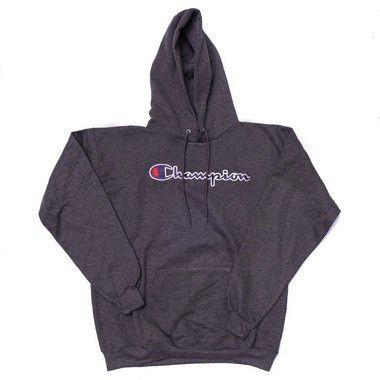 """CHAMPION - Moletom Script Logo """"Granito"""""""