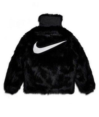 "Nike x Ambush - Jaqueta Reversible Faux Fur Coat ""Black"""
