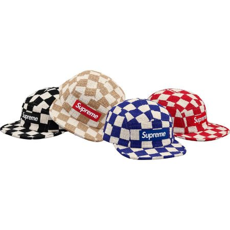 ENCOMENDA - SUPREME - Boné Checkerboard Bouclé Camp