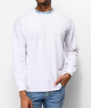 "ODD Future - Camiseta Ribbed Mock Neck ""White"""
