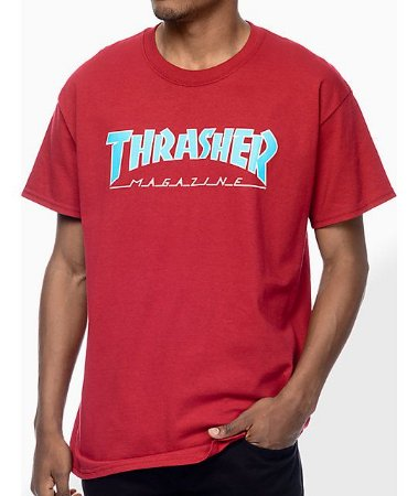 "THRASHER - Camiseta Magazine Outlined ""Burgundy"""