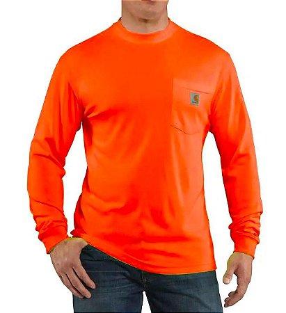 """CARHARTT- Camiseta Manga Longa Force Pocket """"Orange"""""""