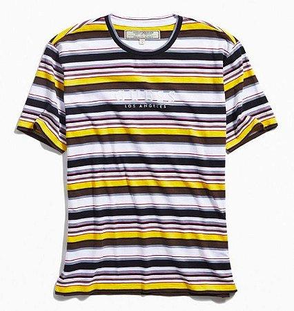 """GUESS - Camiseta Ashton Striped """"Yellow/Grey"""""""