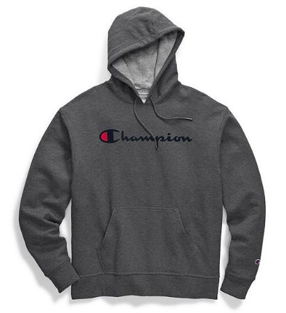 "CHAMPION - Moletom Script Logo ""Granite/Black"""