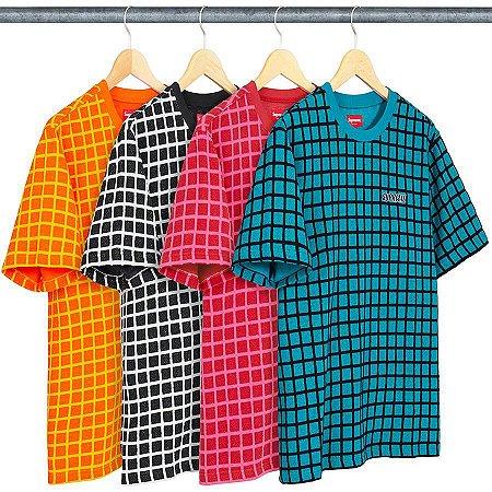 ENCOMENDA - SUPREME - Camiseta Grid Jacquard