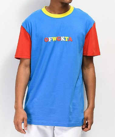 "ODD Future - Camiseta Colorblocked ""Blue/Yellow/Red"""
