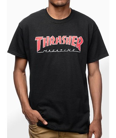 "THRASHER - Camiseta Mag Outlined ""Black"""