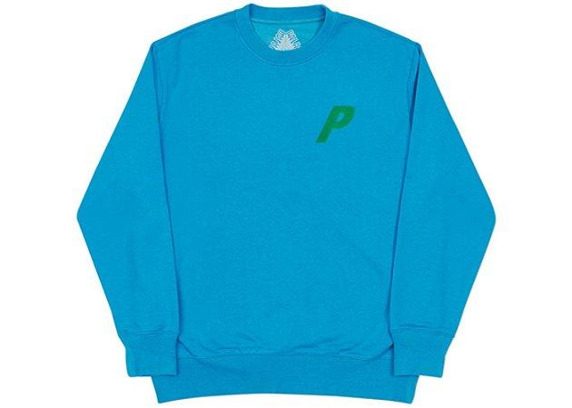 "PALACE - Moletom Flocka P ""Blue/Green"""