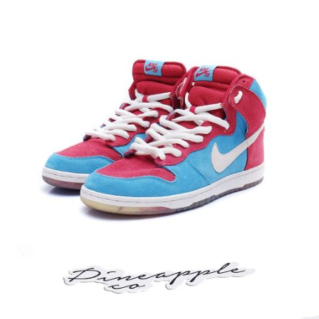 "Nike SB Dunk High ""Bloody Gums"" 2009"