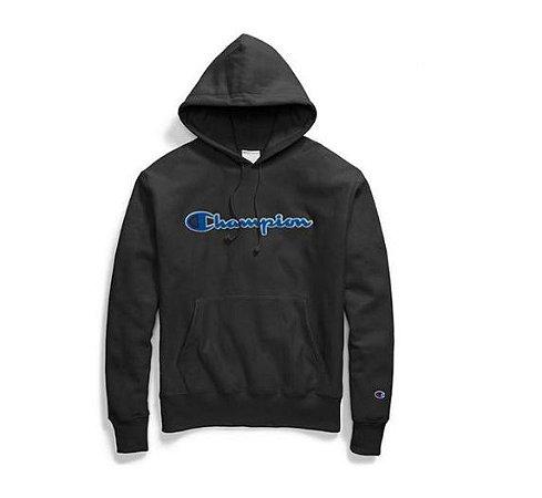 "CHAMPION - Moletom Chenille Script Logo ""Black"""