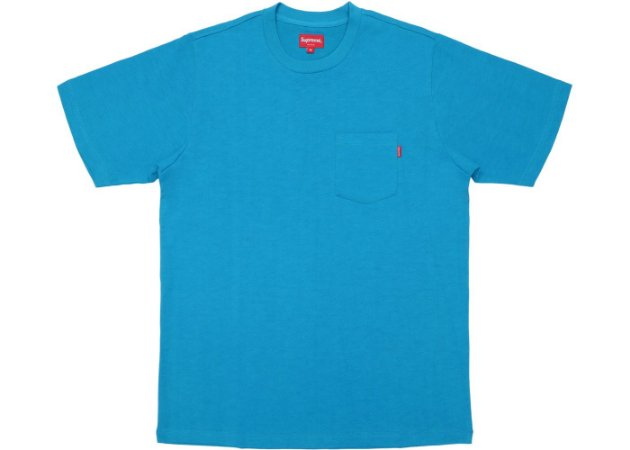 "SUPREME - Camiseta Pocket (SS18) ""Teal"""