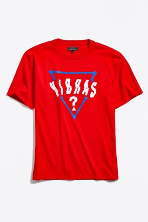 "Guess x J.Balvin - Camiseta Vibras Oversized Logo ""Red"""