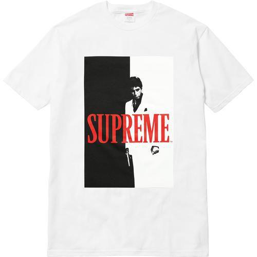 """Supreme x Scarface - Camiseta Split """"White"""""""