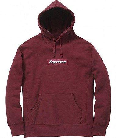 """SUPREME - Moletom Box Logo (FW11) """"Burgundy"""""""