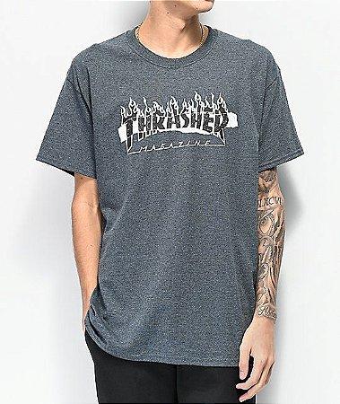 """THRASHER - Camiseta Ripped Dark """"Grey"""""""