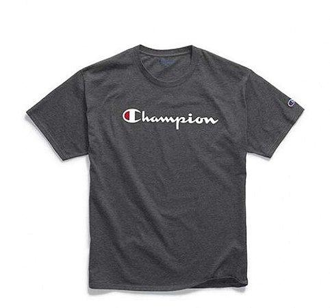"""CHAMPION - Camiseta Script Logo Silk """"Granito"""""""