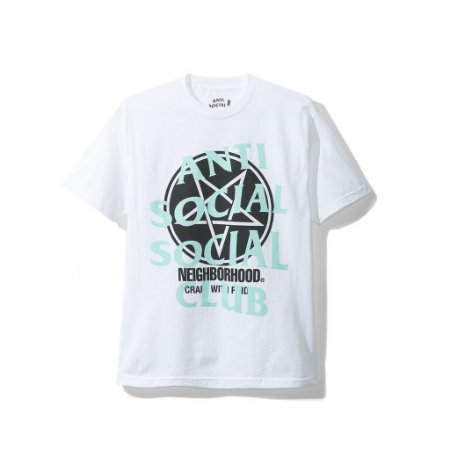 "Anti Social Social Club X Neighborhood - Camiseta Filth Fury ""White"""