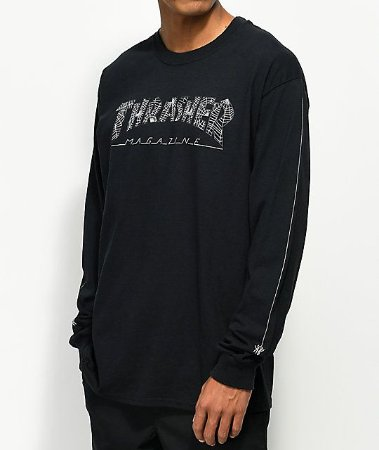 "THRASHER - Camiseta Web Long ""Black"""