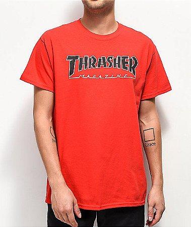 """THRASHER - Camiseta Outlined """"Red"""""""