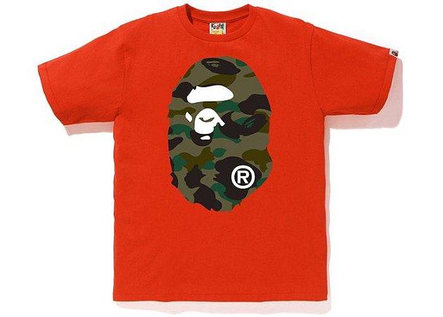 """BAPE - Camiseta 1st Camo Big Ape Head """"Orange"""""""