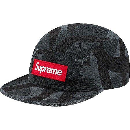 "SUPREME - Boné Military Camp ""Black/Grey"""
