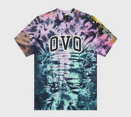 "OVO - Camiseta Tie Dye Arch ""Black/Purple"""