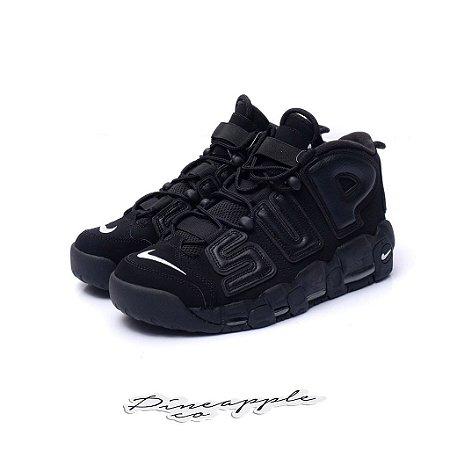 "Nike Air More Uptempo x Supreme ""Suptempo Black"" -NOVO-"