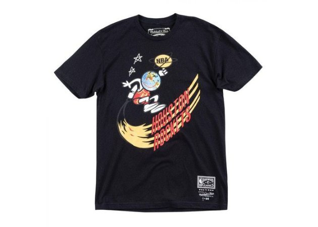 "Travis Scott x BR x Mitchell & Ness - Camiseta Rockets ""Black"""