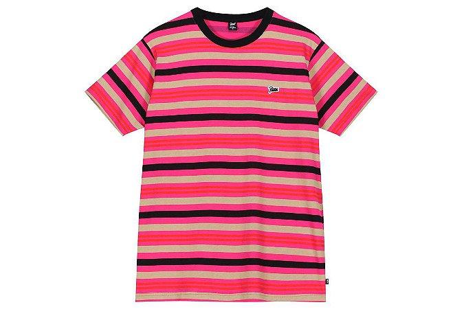 "PATTA - Camiseta Double Stripe ""ROSA/ROXO"" -NOVO-"