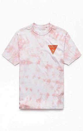 """GUESS - Camiseta Oversized Logo Orange """"Tie Dyed"""""""