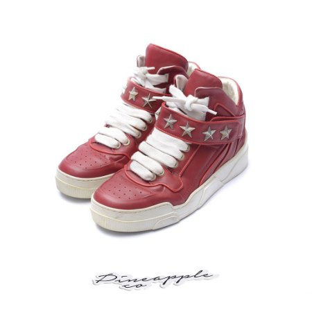 """Givenchy Tyson Leather High Star """"Red"""""""
