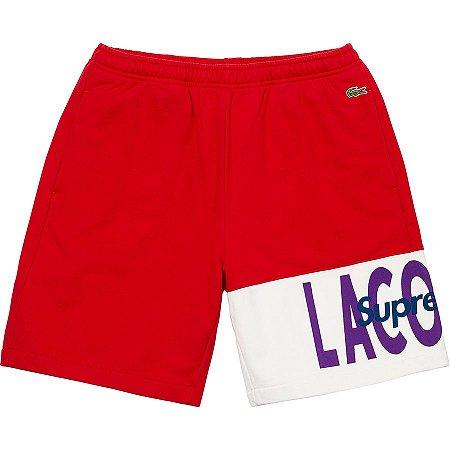 """Supreme x Lacoste - Bermuda Logo Panel """"Red"""""""