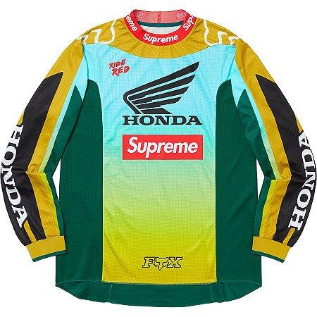 "Supreme x Fox Racing x Honda - Jersey Racing Moto ""Moss"""