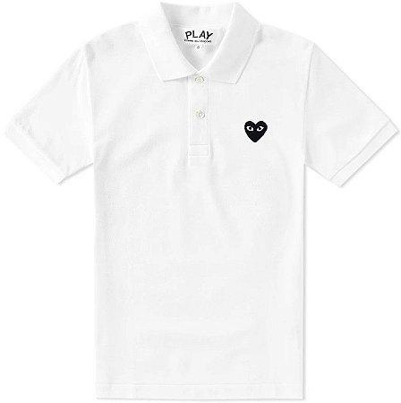 "COMMES DES GARÇONS PLAY - Camiseta Black Heart ""White"""